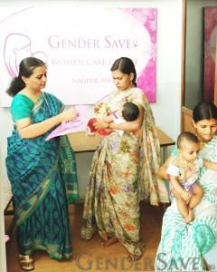 GenderSave providing postnatal care for a mother